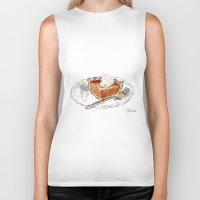 pie Biker Tanks featuring Pumpkin Pie by Elena Sandovici