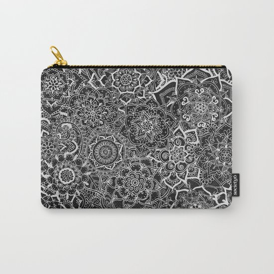 Delicate Lace Mandala Pattern Carry-All Pouch