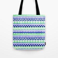 Blue Green Purple Pattern Tote Bag