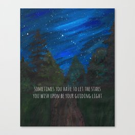 Sometimes You Have to Let the Stars You Wished Upon Be Your Guiding Light Painting Canvas Print
