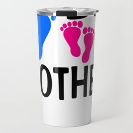 I'm the Big Brother! two pink feet Light Travel Mug