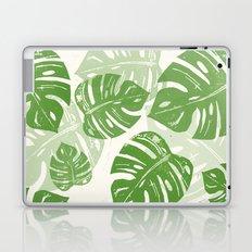 Linocut Monstera Leaf Pattern Laptop & iPad Skin