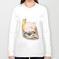 british Long Sleeve T-shirts featuring British Bulldog by Rachel's Pet Portraits