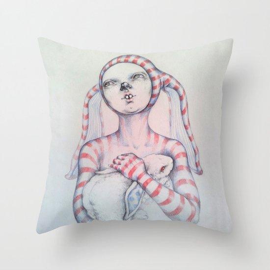 The Bunny rabbit Throw Pillow