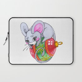 Mouse on Christmas toy Laptop Sleeve