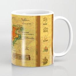 Map Mermaid Cabo de Gata Coffee Mug