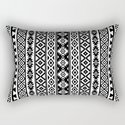 Aztec Stylized Pattern Black & White I by nataliepaskell