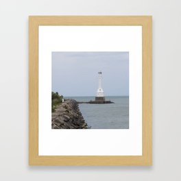 Huron Harbor Lighthouse Framed Art Print