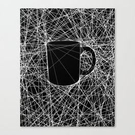 Coffee Web Canvas Print