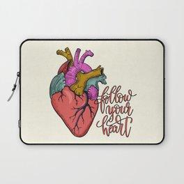 FOLLOW YOUR HEART - tatoo artwork Laptop Sleeve