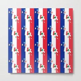 France Rugby Fan Drapeau Français Flag Design Metal Print