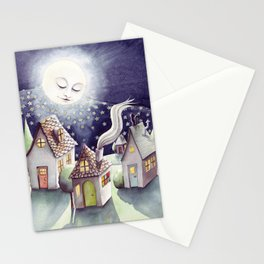 Mother Moon Stationery Cards