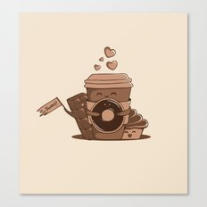 Caffeinated Love Canvas Print