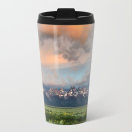 Glorious Sunrise Over The Tetons Travel Mug