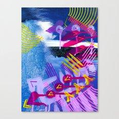 Wave purple Canvas Print
