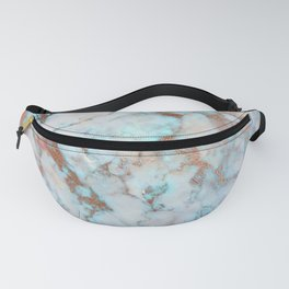 Rose Marble with Rose Gold Veins and Blue-Green Tones Fanny Pack