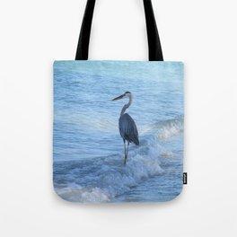 Oceans Great Blue Heron Tote Bag