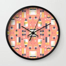 Modern Elements Pattern Art Wall Clock
