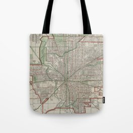 Vintage Map of Indianapolis Indiana (1921) Tote Bag