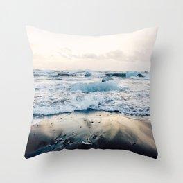 Diamond Beach, Iceland Throw Pillow