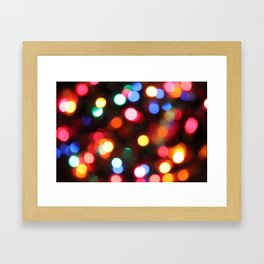 Colored Christmas Lights (2) Framed Art Print