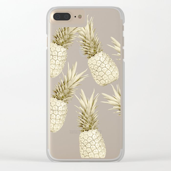 Pineapple Bling Clear iPhone Case
