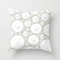 eggs Throw Pillows featuring Eggs by Alisa Galitsyna