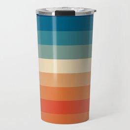 Summer Color Lines Travel Mug
