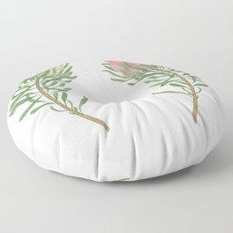 Watercolor painting protea flowers set Floor Pillow