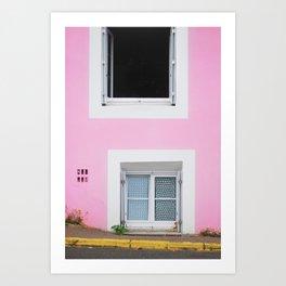 50. The Pink Wall, Bretagne, France Art Print