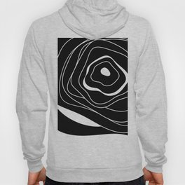 Black and white abstract flower Hoody