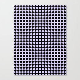 Black and Pale Lavender Violet Diamonds Canvas Print