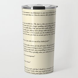 Pride and Prejudice Jane Austen antique white Travel Mug