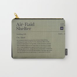 Air-Raid Shelter Sign Carry-All Pouch