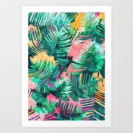 I'm All About Palm Trees & 80 Degrees #painting #illustration #botanical Art Print