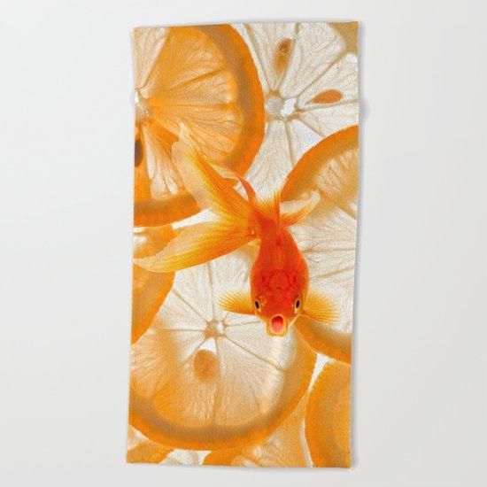 Orange Fish Beach Towel