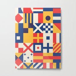 Maritime Nautical Signal Flags Metal Print