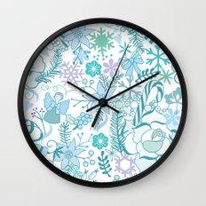 Bright xmas pattern Wall Clock