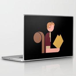 Squirrel Lady Reads Laptop & iPad Skin