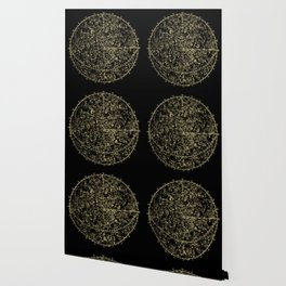 Astro Astronomy Constellations Astrologer Vintage Map Wallpaper