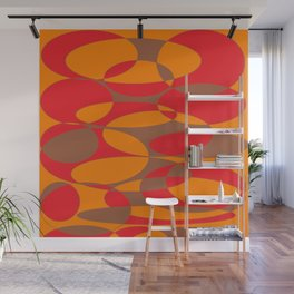 Red, orange and brown elliptical design Wall Mural