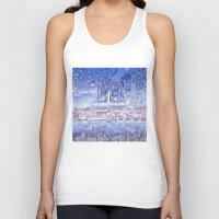 washington dc Tank Tops featuring washington dc city skyline by Bekim ART
