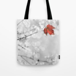 Red in the Snow Tote Bag