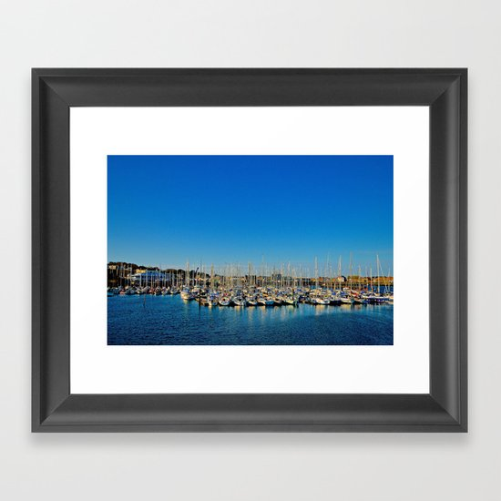 The Boats of Howth Harbor Framed Art Print
