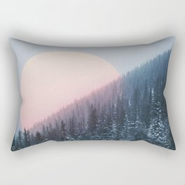 Peach Sunrise Rectangular Pillow
