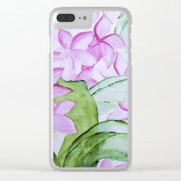 plumeria Clear iPhone Case