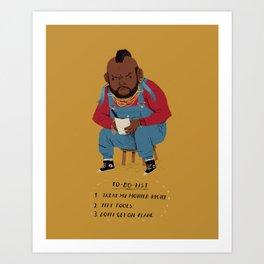 T to-do-list. Art Print