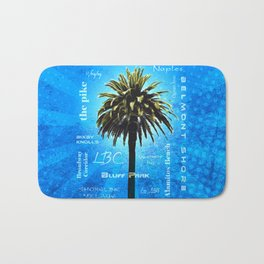 Long Beach, California - Palm Tree -  Pop Art Bath Mat