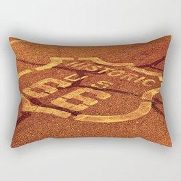 Historic route 66 in the Mojave desert. Rectangular Pillow