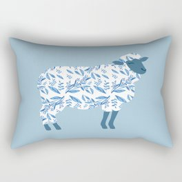 Sheep made of floral pattern Rectangular Pillow